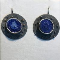 Azurite Suns Earrings