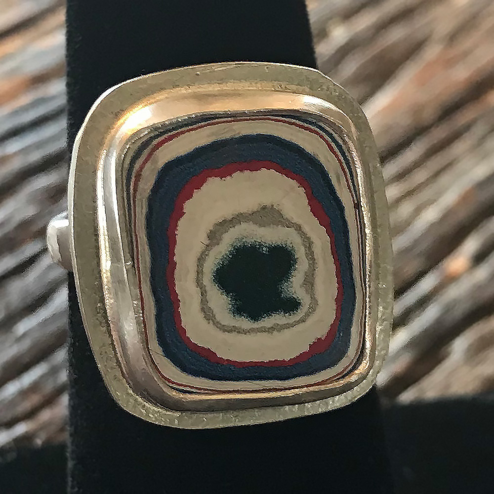 Fordite Ring