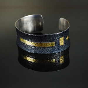Black and Gold Bangle