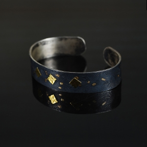 Black and Gold Triangle Cuff