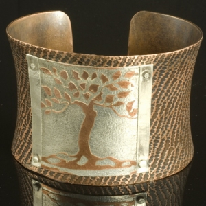 Copper Tree Cuff Bracelet