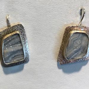 Gray Drusy Earrings