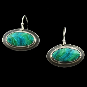Blue and Green Waves Earrings