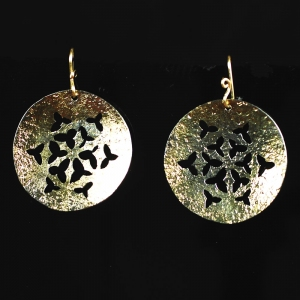 Iron Holly Earrings
