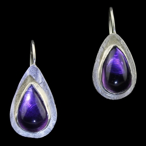 Purple Teardrops Earrings