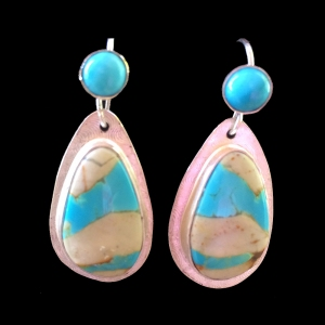 Ribbon Turquoise Earrings