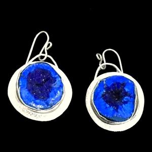 Azurite Geode Earrings