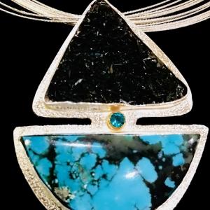 Black Needle Hematite Pendant