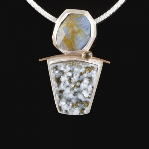 Pyrite Druzy - Amazonite & Citrine