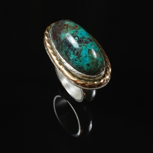 Green Depths Chrysocolla Stone Ring