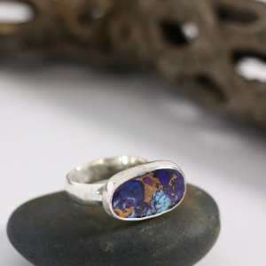 Mohave Turquoise Silver Ring