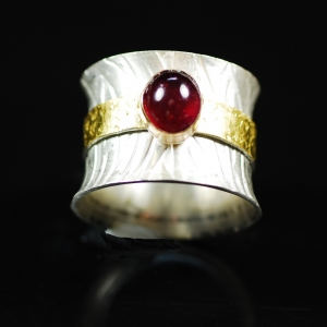 Ruby in Gold Ring