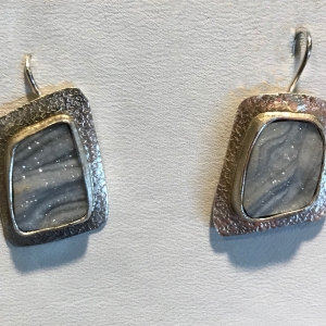 Gray Drusy Earrings