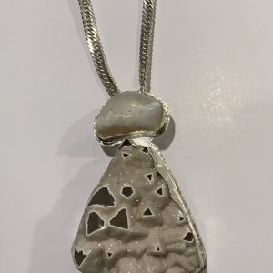 Clouds Over Ice Mountain Pendant