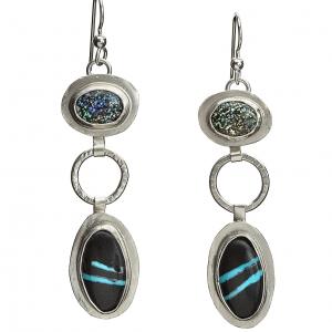 Leopard Opal Earrings