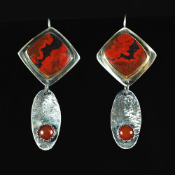 Lava Flow Earrings by Suzanne Brown