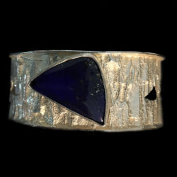 Tufa-Cast-Bracelet-Set-with-Lapis-2