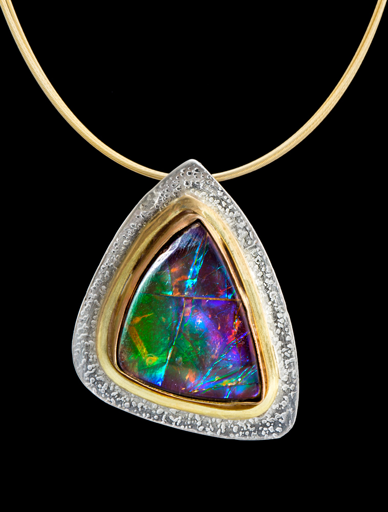 Ammolite Pendant by Suzanne Brown Jewelry